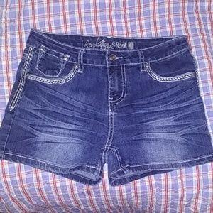 Junior denim shorts